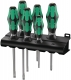 WERA 334/6 Rack Schraubendrehersatz Kraftform Plus Lasertip, 6-teilig + Rack